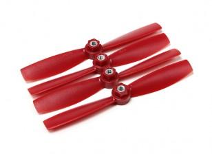 Diatone Поликарбонат Самостоятельно Затягивание Bull Нос пропеллеры 5045 (CW / CCW) (красный) (2 пары)