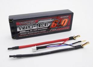 Turnigy нано-технологий 6000mAh 2S2P 65 ~ 130C Hardcase Липо пакет