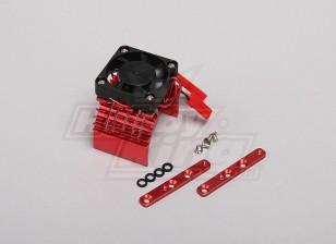 Красный алюминиевый мотор теплоотводом ж / регулируемый вентилятор (верхняя часть) 36mm Inrunner Motors