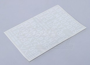 Буквы / цифры / Символы белый 26мм
