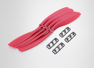 Hobbyking ™ Propeller 8x4.5 Красный (КОО) (4шт)