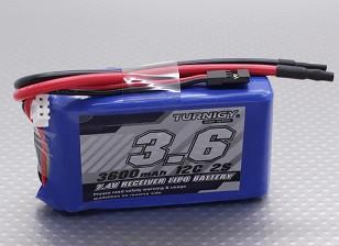 Turnigy 3600mAh 2S 12C Lipo приемник Пакет