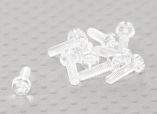 Прозрачные поликарбонатные Винты M3x10mm - 10pcs / мешок