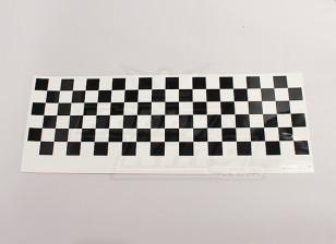 Декаль лист Chequer Pattern Black / Clear 590mmx180mm