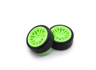 Hobbyking 1/10 колеса / комплект колес Y-спица (зеленый) RC автомобилей 26мм (2шт)