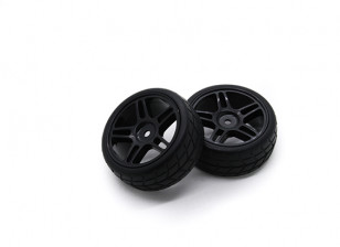 Hobbyking 1/10 колеса / шины Set VTC Star Spoke (черный) RC автомобилей 26мм (2шт)
