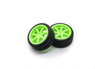 Hobbyking 1/10 колеса / шины Набор VTC 6 Spoke (зеленый) RC автомобилей 26мм (2шт)