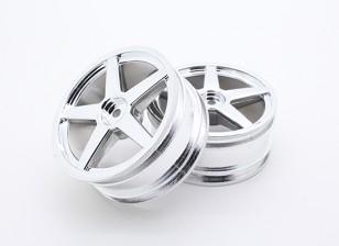 Токсичные Nitro - передняя хромированная колеса