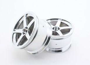 Токсичные Nitro - Задний Хромированные колеса