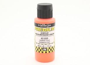 Вальехо Премиум Цвет Акриловая краска - Оранжевый Fluo (60мл)