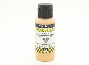Вальехо Премиум Цвет Акриловая краска - золото (60мл)