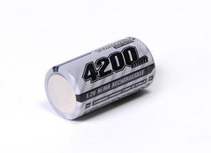 Turnigy перезаряжаемые Sub-C 4200mAh 1.2V NiMH высокого питания серии