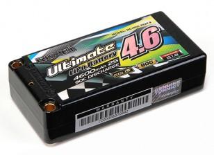 Turnigy нано-технологий Окончательный 4600mAh 2S2P 90C Hardcase Липо Short Pack (ЕДОР & BRCA Approved)