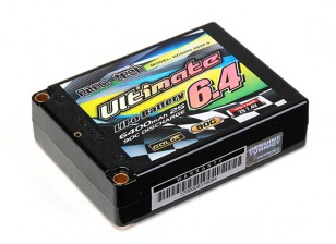 Turnigy нано-технологий Окончательный 6400mAh 2S2P 90C Hardcase Липо площади упаковки