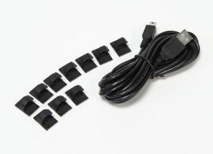 3 Meter USB к мини-USB кабель для зарядки с монтажными колодки