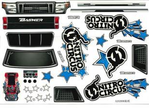 Декаль набор - Реактивные клоуны Башер 1/8 Scale Monster Truck