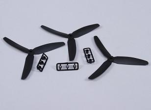 Hobbyking ™ 3-лопастной пропеллер 5x3 черный (КОО) (3шт)