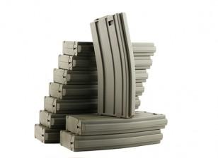 King Arms 120rounds журналы для серии Marui M4 / M16 AEG (оливковый, 10шт / коробка)