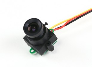 Мини CMOS FPV камера 520TVL 120deg поле зрения 0.008Lux 17x17x24mm (PAL)