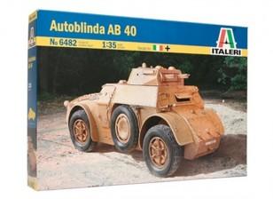 Italeri 1/35 шкала AB 40 Autoblinda Plastic Model Kit