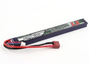 Turnigy нано-технологий 1300mAh 2S 25 ~ 50C Lipo AIRSOFT Pack (T-коннектор)
