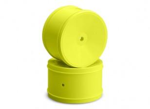 JCONCEPTS Буллит 1 / 10th Offroad 12mm Hex Задний колесный диск - желтый