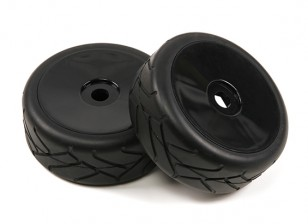1/8 Scale Black Pro Dish диски с полуосями Slick Style Шины (2pc)