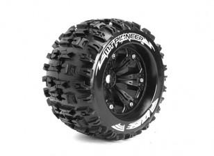 """ЛУИЗА MT-PIONEER 1/8 Шкала Traxxas Стиль бисера 3,8 """"Monster Truck SPORT Соединение / черный колесный диск"""