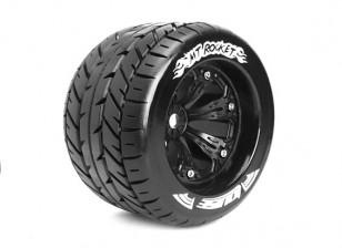 """ЛУИЗА MT-ROCKET 1/8 Шкала Traxxas Стиль бисера 3,8 """"Monster Truck SPORT Соединение / черный колесный диск"""
