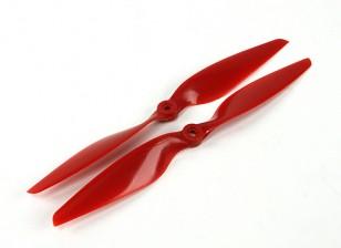 Аэростар композитный пропеллер 10x5.5 Красный (CW / CCW) (2 шт)