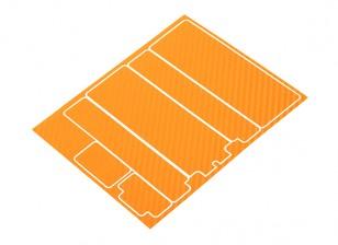 Trackstar Декоративные Крышка батарейного отсека Панели для стандартной 2S Hardcase Оранжевый Carbon Pattern (1 шт)