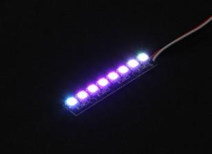 8 RGB LED 7 Color Board (продолговатый) 5V и контроллер LED Интеллектуальные RGB с Futaba Style Вилки