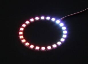 24 RGB LED 7 цветов Круглый Совет 5V и контроллер LED Интеллектуальные RGB с Futaba Style Вилки
