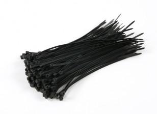 Кабельные стяжки 150 мм х 3 мм черный (100шт)