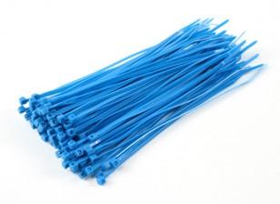 Кабельные стяжки 200 мм х 4 мм Синий (100шт)