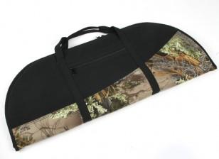 Проложенный изогнутый лук сумка - Woodland Camo / Black