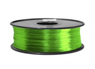 HobbyKing 3D Printer Filament 1.75mm ABS 1KG Spool (Translucent Green)