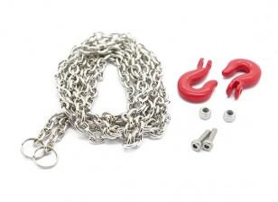 Масштаб 1/10 Алюминиевый крюк (Large) с стальной цепью