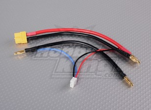 XT-60 разъем жгута проводов для 2S Hardcase Седло пакет LiPoly батарей