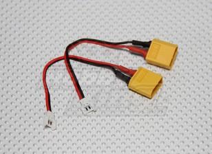 XT60 к Micro Лози Зарядка адаптер (2 шт / мешок)