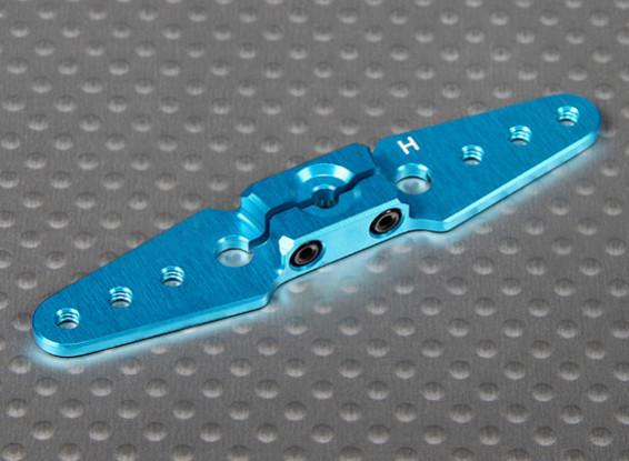 CNC Heavy Duty 2.50in Aluminium Pull-Pull Servo Arm - Hitec (Blue)