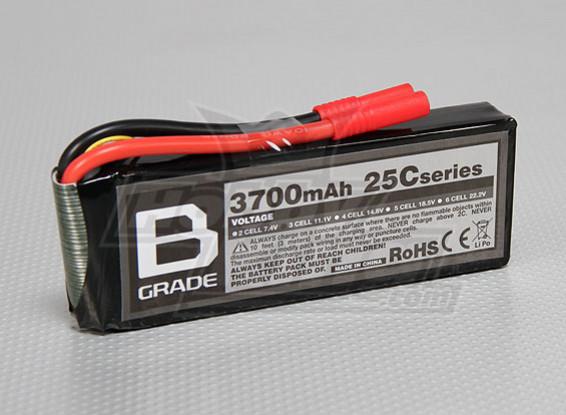 B-Grade 3700mAh 3S 25C Lipoly Battery