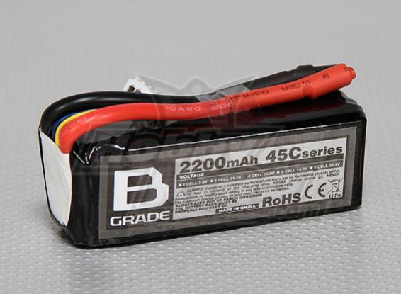 B-Grade 2200mAh 4S 45C Lipoly Battery
