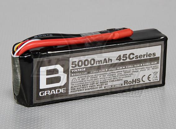 B-Grade 5000mAh 3S 45C Lipoly Battery