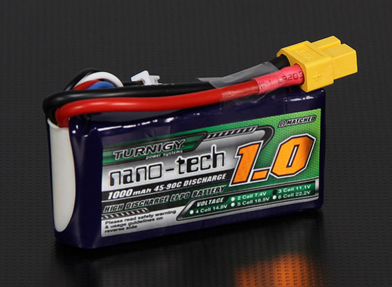 Turnigy nano-tech 1000mAh 3S 45~90C Lipo Pack