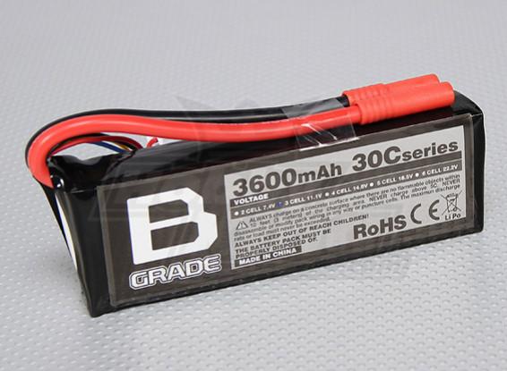 B-Grade 3600mAh 3S 30C Lipoly Battery