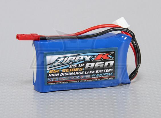 Zippy-K Flightmax 860mAh 2S1P 25C Lipoly Battery