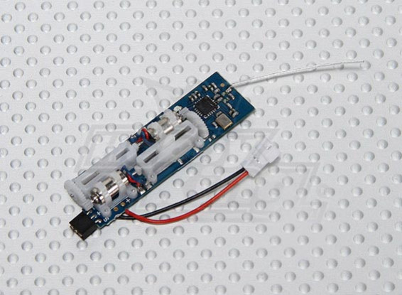 2.4Ghz SuperMicro Systems - Receiver, ESC and 2 x Linear Servos All-in-one (3ch)