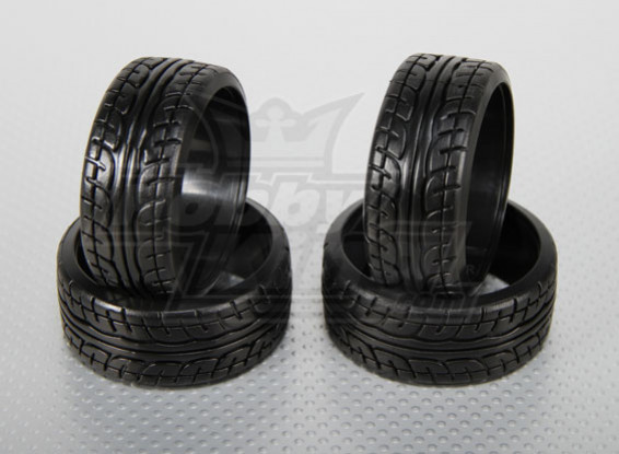 1:10 Scale Hard Plastic Drift Tires w/tread RC Car 26mm (4pcs/set)