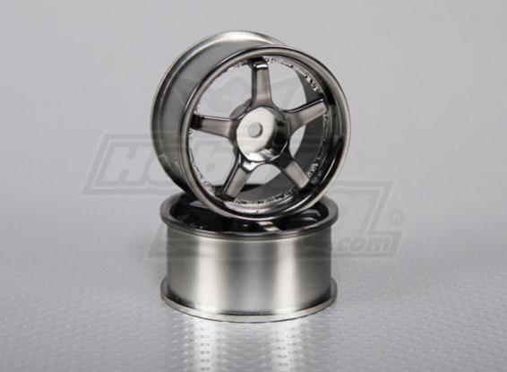 1:10 Scale Wheel Set (2pcs) 5-Spoke RC Car 26mm